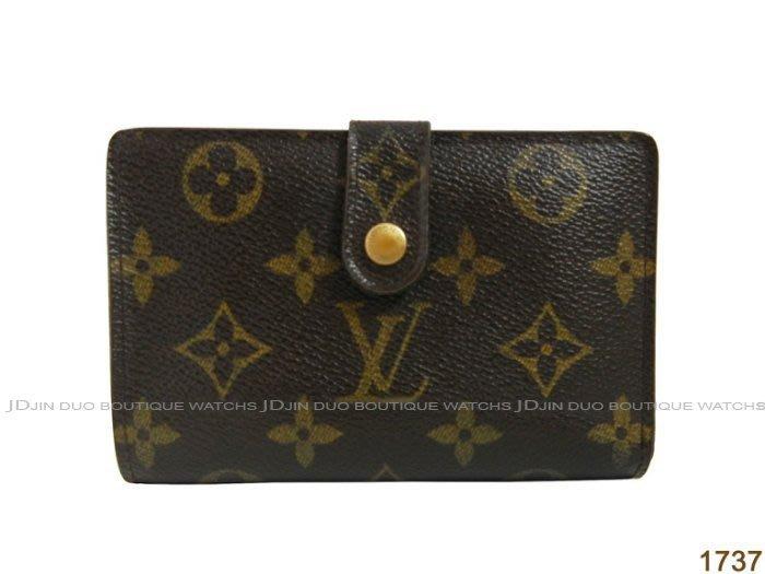金鐸精品~1737 LOUIS VUITTON LV 路易威登 M61674 FRENCH 零錢扣四卡 中夾