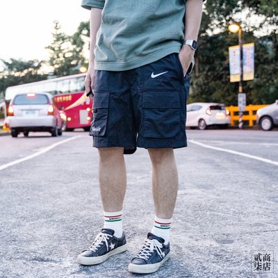 (貳柒商店) NIKE AIR NSW SHORT REPEL 男款 黑色 工裝 短褲 多口袋 CU4127-010
