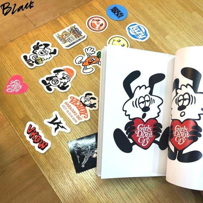 BLACK原宿限定!全新VERDY x 村上隆KAIKAI KIKI太陽花GIRLS DONT CRY展覽畫冊&貼紙組
