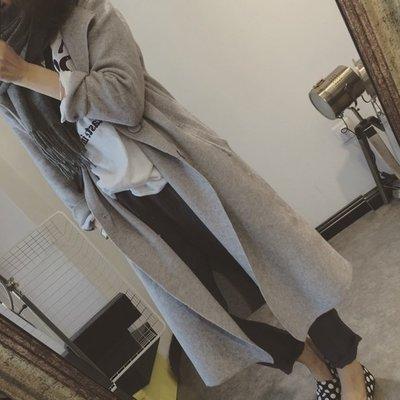 ☆Bubble Lady ☆【A1038】氣質 雙排扣 大翻領 針織 罩衫 外套 韓妮 可樂果
