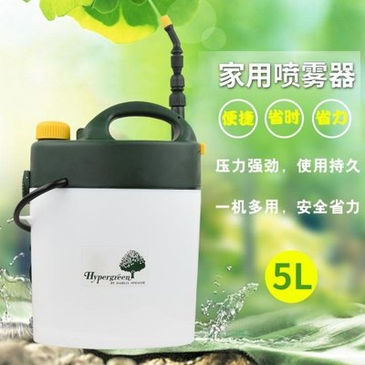 日本氣壓式電動噴霧器噴水壺 澆水壺灑水壺澆花噴壺消毒5L