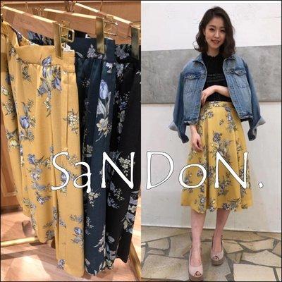 SaNDoN x『COCODEAL』春季新款 全亞麻特殊印染花朵氣質長裙 SLY  SNIDEL 180316