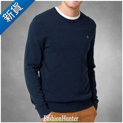 新貨【FH.cc】Timberland 素面毛衣 海軍藍 刺繡小樹 撞色袖口彈性領口袖口及腰身 踢不爛 好搭襯衫單穿有型