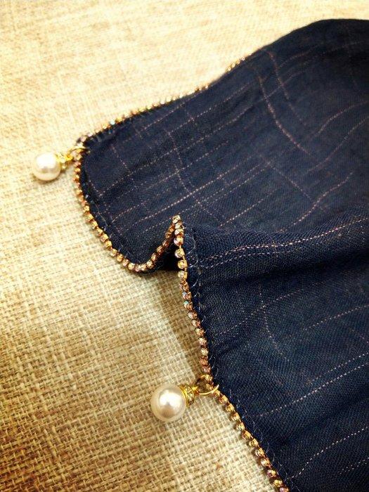 珍珠彩色水鑽 薄款 大披肩圍巾 防曬 冷氣房