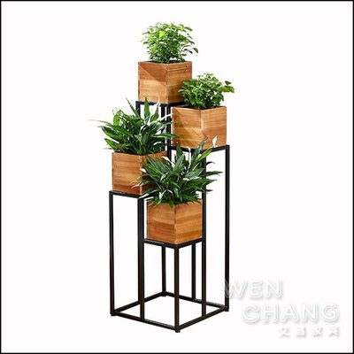 訂製品 鐵木盆栽架組 接受任何尺寸、顏色訂製 價格另計  CU067 *文昌家具*