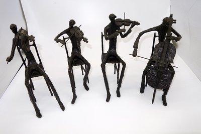 Burn 銅雕作品--弦樂四重奏