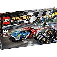 全新未開盒 Lego 75881 Speed Champions 2016 Ford GT & 1966 Ford GT40 1盒