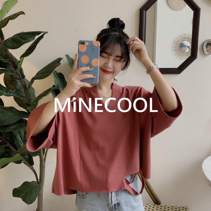 MiNE SHOP韓國 寬鬆百搭短款上衣 M9604-3三色  均碼