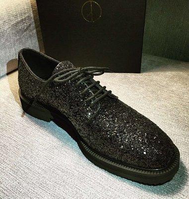 韓國 GD 金色 皮鞋 黑色皮鞋 亮片皮鞋 真皮材質 高品質 1比1訂製 SLP 高優質 聖羅蘭 皮鞋 925