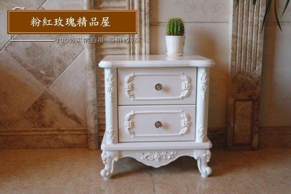 粉紅玫瑰精品屋~韓式田園家具玫瑰床頭櫃~現貨