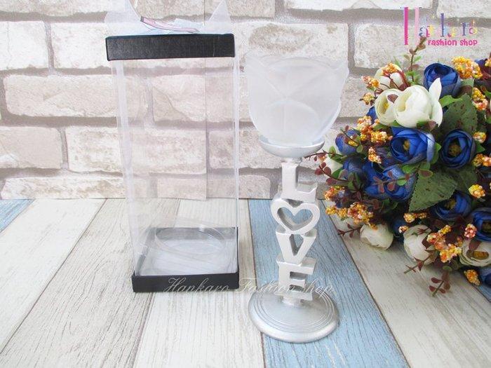 ☆[Hankaro]☆ 歐美創意婚禮小物LOVE玫瑰燭台(不含蠟燭)