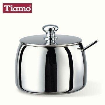 柚柚麻+++Tiamo糖罐附咖啡匙 不鏽鋼18-8 糖罐 (HK-0503) 奶精罐 高級調味罐 內附不鏽鋼咖啡匙