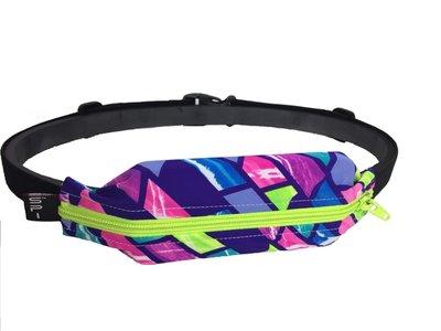 騎跑泳/勇者-SPIBELT 運動彈性腰包/帶,加大款伸縮袋.紫藍粉紅萊姆綠鍊.美國原廠