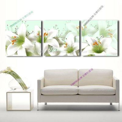 【60*60cm】【厚2.5cm】浪漫百合-無框畫裝飾畫版畫客廳簡約家居餐廳臥室牆壁【280101_018】(1套價格)