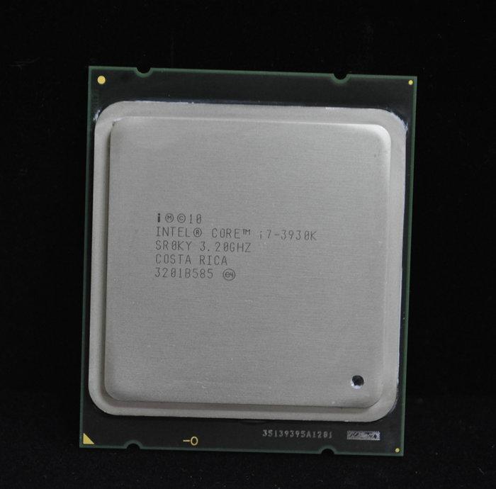 少用極新!Core i7-3930K 6核12線正式版送原廠銅底風扇(2011 3.2G)非 i7-3820 4820K