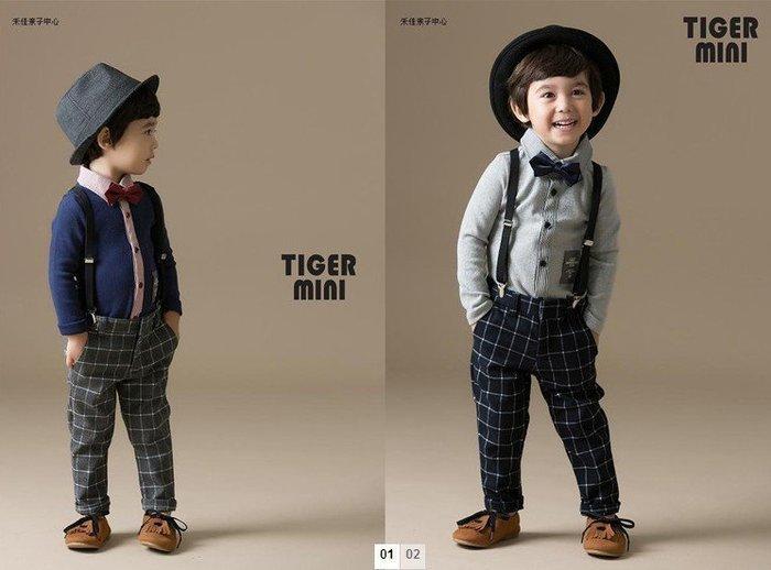 【衣Qbaby】男童韓版學院風花童禮服#春秋薄款/冬季加絨加厚款 套装二件套(含領結吊帶)