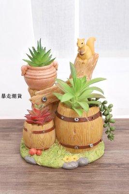 精選 zakka創意寧靜后花園多肉植物花盆桌面微景觀裝飾小盆栽陽臺擺件
