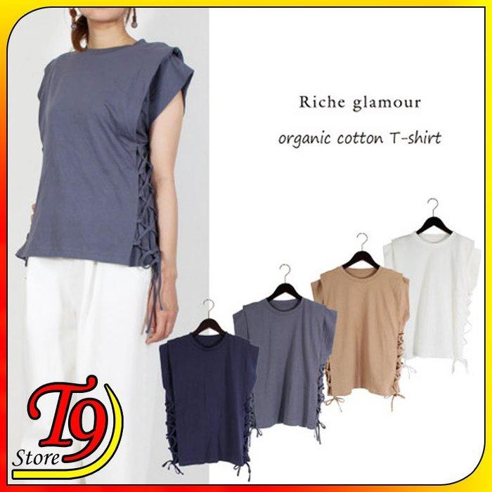 【T9store】日本進口 有機棉布繫帶T恤衫