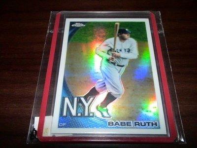 王建民前東家紐約洋基隊名人堂球員Babe Ruth球員卡Refractor(Topps Chrome換回卡包拆出)