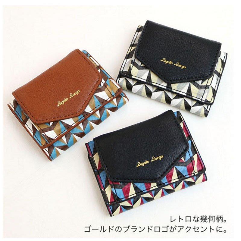 Legato Largo 大容量短夾 皮革 短夾 零錢包 三折錢包 手拿包 錢包 女包 包包 女用包