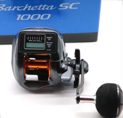 (桃園建利釣具)SHIMANO Barchetta SC 1000 太陽能電池數位表 船鼓式捲線器