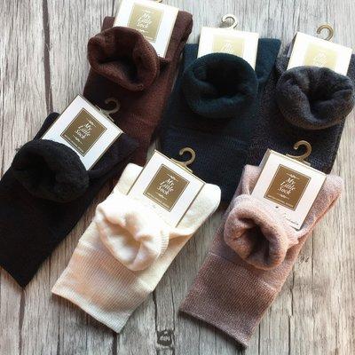 日本羊毛短袜 女款羊毛室內中統保暖襪子...