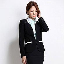 【10120】職業男女OFFICE ☆ STAR 修身時尚款長袖外套 2色 S-5L