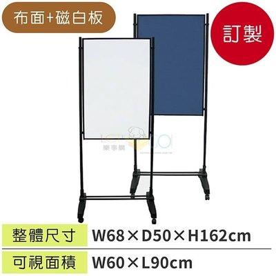 ☆樂事購☆【廣告牌/告示架/展示架/標示牌/公布欄☆台灣製造白磁板+布面海報架WSW-609B】