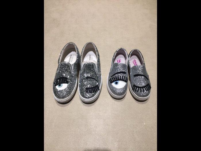 韓版 女童 眨眼銀色閃亮 亮片鞋 休閒鞋✨