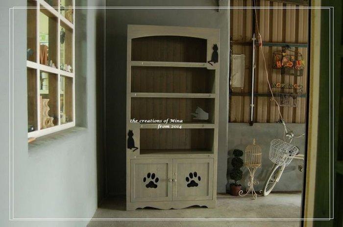 米娜天然直感手作-貓の展示櫃.書櫃 是展示櫃也是鞋櫃天然直感手作家具