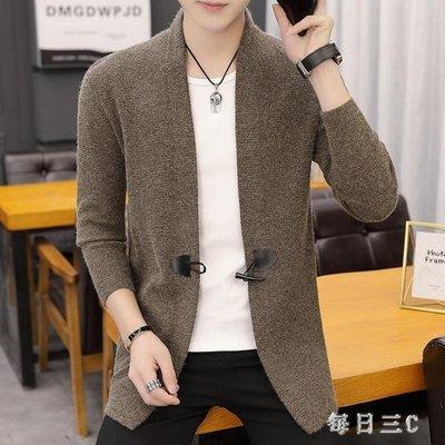 針織外套秋冬季新款外套韓版線衣潮流男裝披風男士針織開衫 zm11990