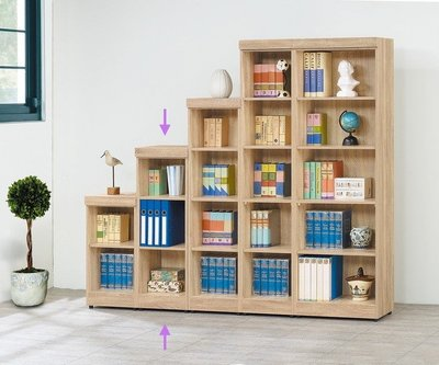 【浪漫滿屋家具】(Gp)551-3 法蘭克三格書櫃