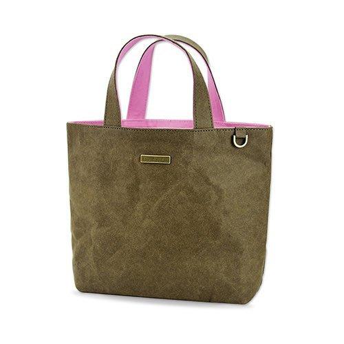 C'est Si Bon|【現貨。免運】洗舊皮革紙小托特包/散步包-巧克力 盒裝