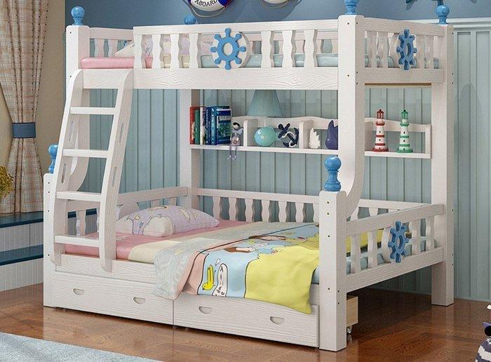 {京采傢俱} ☆B13# 特價款 雙層床 梯櫃  兒童家具  兒童床  實木床