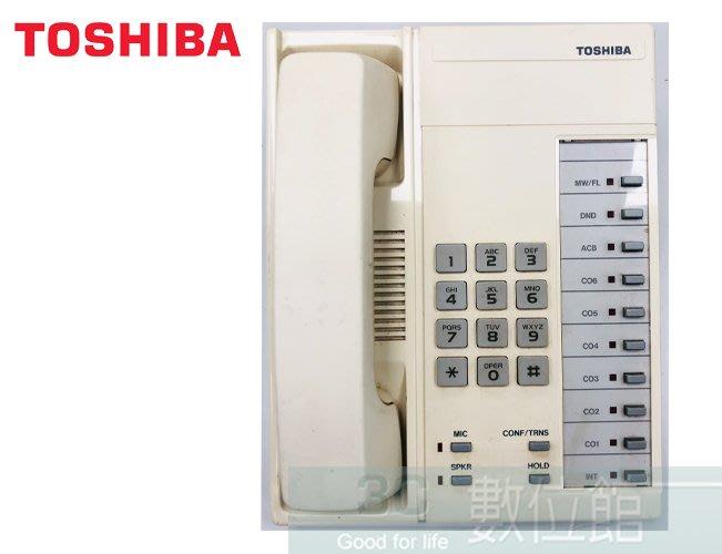 【6小時出貨】TOSHIBA 日本東芝總機電話 DKT3201C 類比式話機 | 福利品出清 | 保固3個月 | 日本製