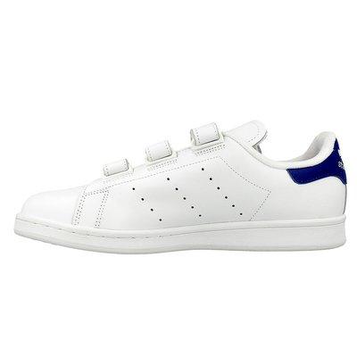 【紐約范特西】現貨 Adidas Stan Smith CF S80042 白藍 魔鬼氈 全白皮革 男/女鞋