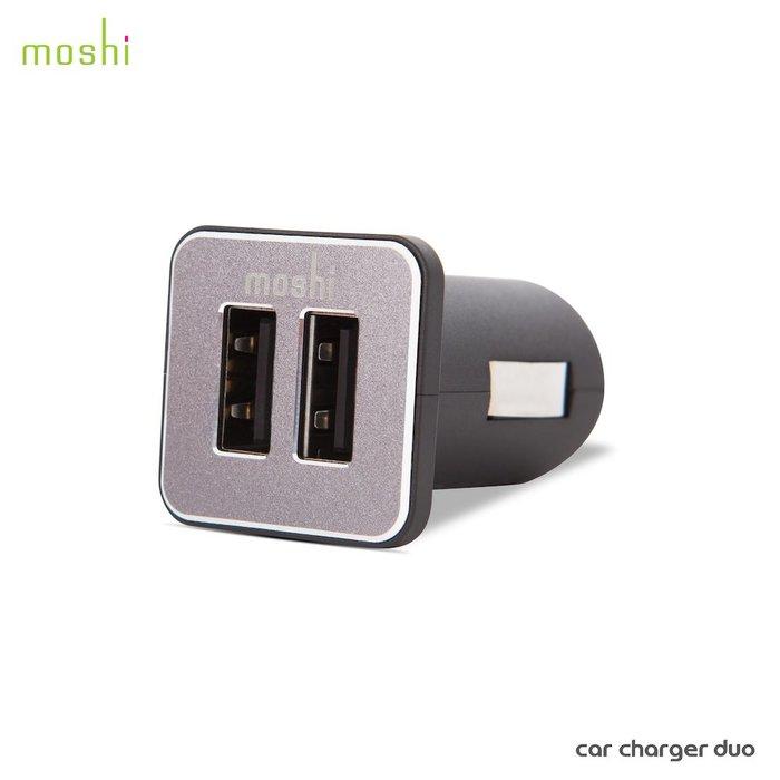 公司貨 Moshi Car Charger Duo 車用雙端口充電器 2.4A(12W )輸出 雙USB端口