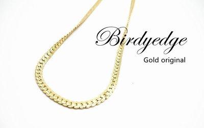 【Birdy Edge】壓花 特殊花色 訂製 品牌 金項鍊 淺金 不退色過敏 品質