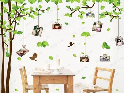 壁貼工場-可超取需裁剪 三代超大尺寸壁貼 壁貼 貼紙 牆貼室內佈置 相框樹 組合貼 AM9019-AB