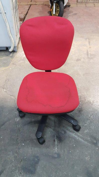 樂居二手家具 全新中古傢俱賣場 CF0227AJJ 紅色布面辦公椅*OA椅 電腦椅 書桌椅 二手辦公家具買賣/OA桌/鐵櫃