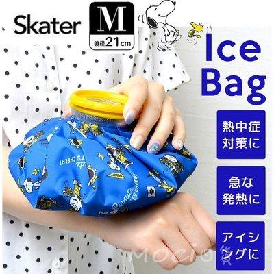 日本正版 史努比 M 冰敷袋 冷敷袋 冰袋 冰枕 熱敷袋 保冷劑 史奴比 SNOOPY SKATER【MOCI日貨】