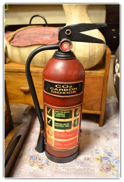 鐵製紅色消防栓擺飾 存錢筒 復古手工鐵皮模型 道具陳列品另有摩托車重機哈雷收藏偉士牌 蒸汽火車 【【歐舍家飾】】