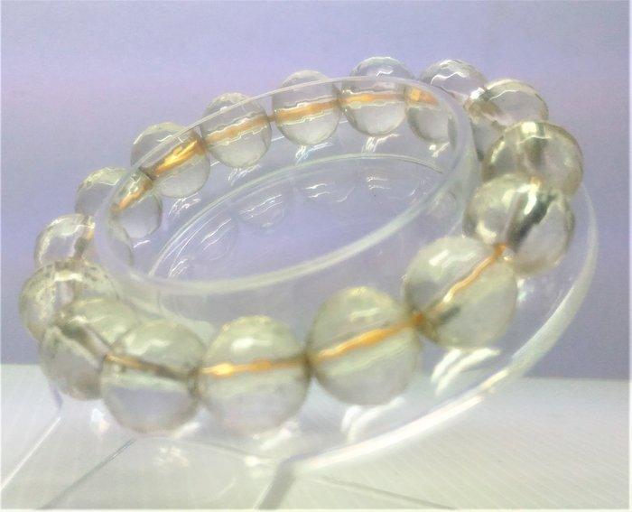 @居士林@白水晶圓珠手鍊.尺寸:珠寬10mm~11mm.一串16顆.重量32.3公克