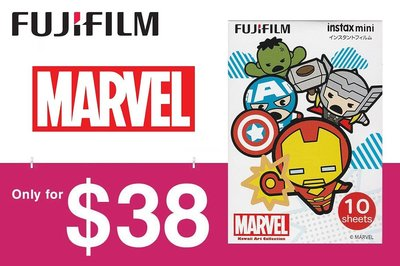 [DJS COMMERCE] 再嚟多一款特價相紙‼️Fujifilm instax mini Marvel 復仇者聯盟即影即有相紙只需 $38 咋,快啲嚟搶購啦