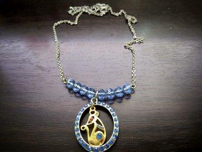 藍水晶特殊造型設計項鍊