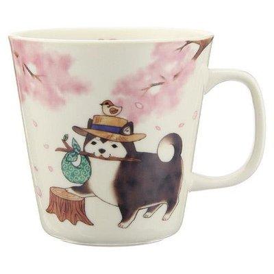日本製 可愛柴犬逍遙流浪記 瓷杯 會心一笑的圖案帶來生活中的喜悅