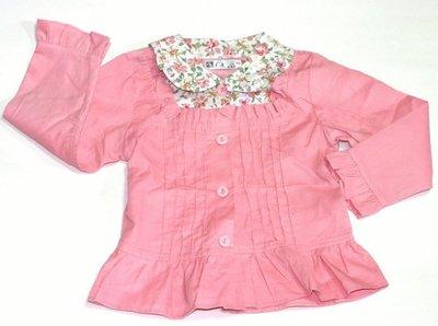 款 ~╮典雅花朵女童長袖襯衫95~110cm    ╭~Q~BABY 嬰