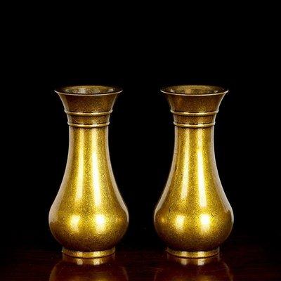 旦旦妙 用品供佛花瓶純銅觀音凈水瓶居室插花迷你小花瓶佛堂供具 童銅45