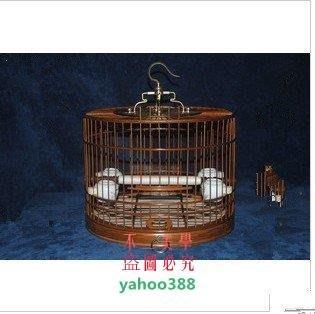 美學9送大禮鳥籠竹制鳥籠紫竹鳥籠靛頦紅子貝子鳥籠全套配齊食碗4個底布籠❖58174
