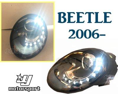 小傑車燈--福斯 VW BEETLE 金龜車 遠近雙光版本 2006-2010年 類12年後式樣 R8 燈眉 魚眼 大燈